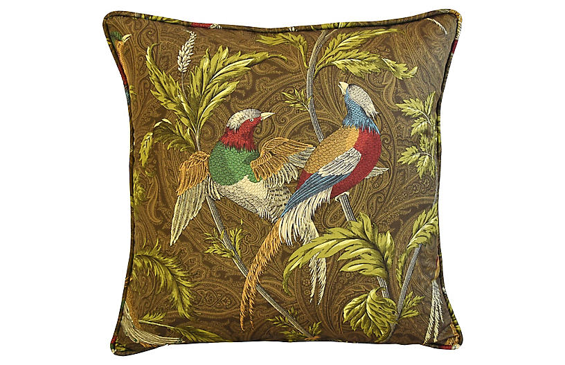 Chinoiserie Exotic Birds Pillows Pair Mike Seratt Top