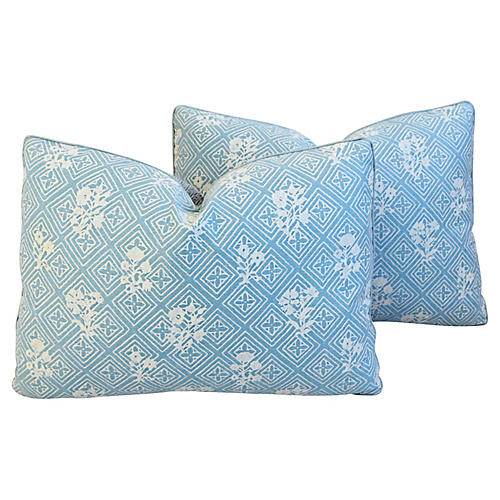 Blue & White Mariano Fortuny Pillows, Pr