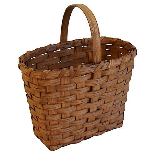 New England Splint-Wood Gathering Basket