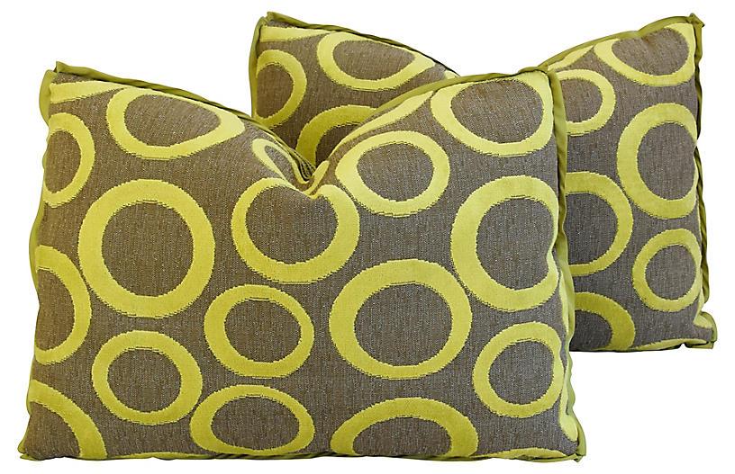 Abstract Cut Velvet Circles Pillows, Pr