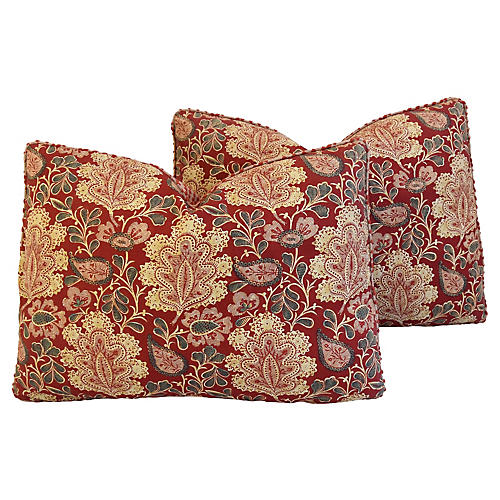 French Nicholas Herbert Pillows, Pair