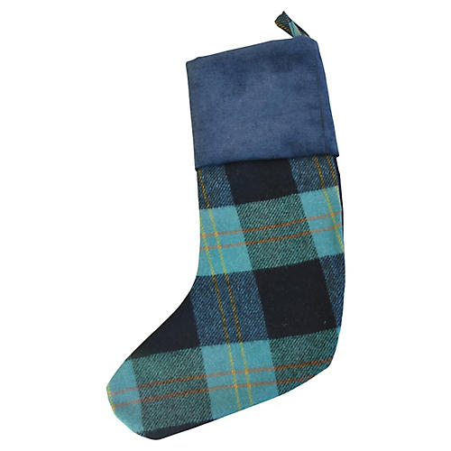 Scottish Tartan Wool Christmas Stocking