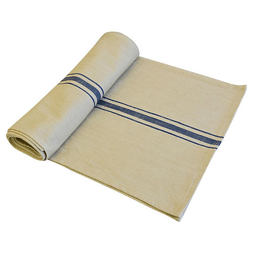 Farmhouse Blue Stripe Table Runner
