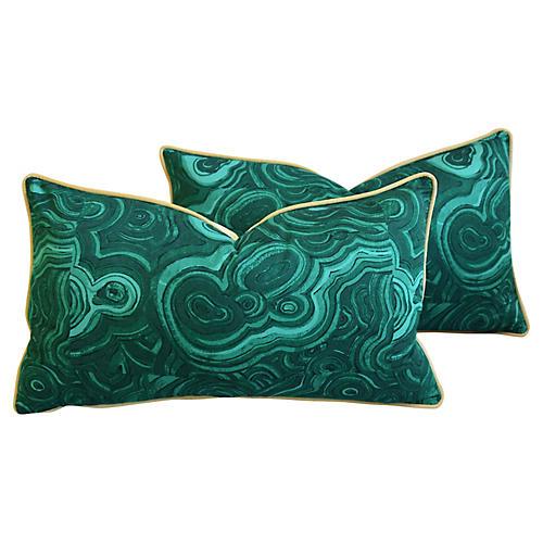 Jim Thompson Malachite Pillows, Pair
