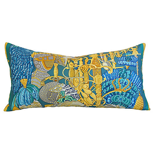 Hermès Armets en Penache Silk Pillow