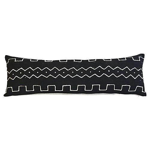 African Mud-Cloth Lumbar Pillow