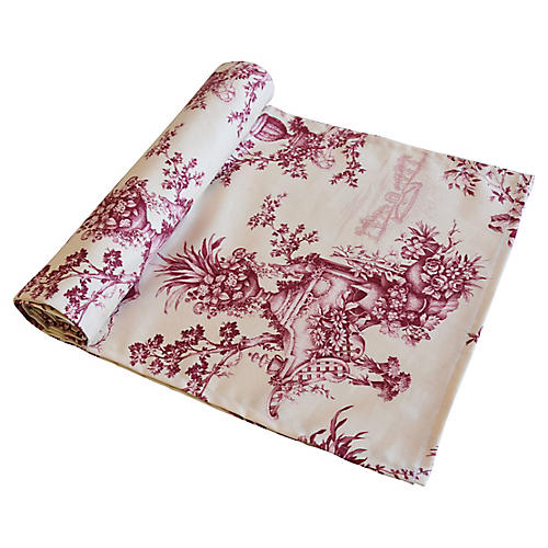 French Floral & Urn Toile Table Runner