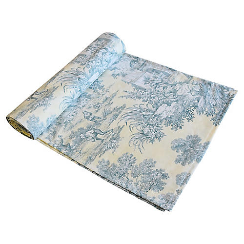 Farmhouse Country Toile Table Runner