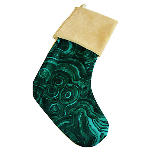 Emerald Malachite Christmas Stocking