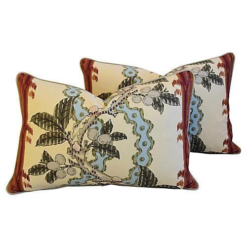 Brunschwig & Fils Josselin Pillows, Pair