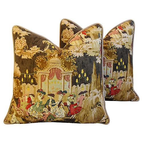 Louis XVI-Style Grand Ball Pillows, Pair