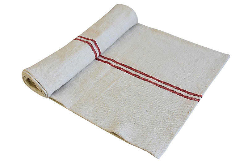 French Grain Sack Table Runner 92