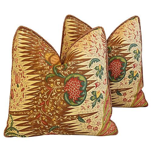 Pierre Frey La Riviere Pillows, Pair