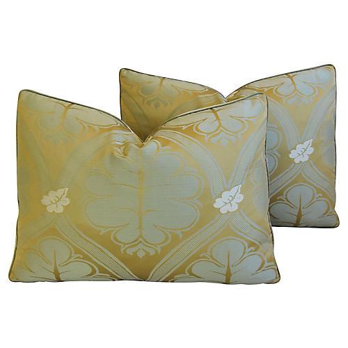 Lee Jofa Silk Brocade Pillows, Pair