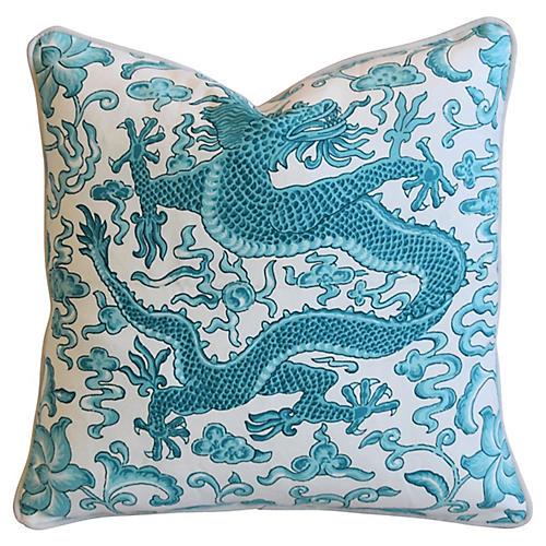 Chinoiserie Scalamandré Dragon Pillow