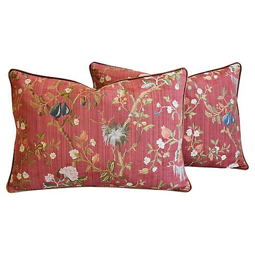 Scalamandré Melograno Silk Pillows, Pr