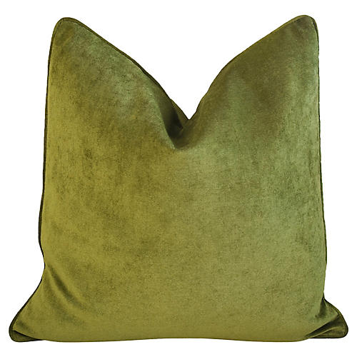 Forest Green Velvet Pillow