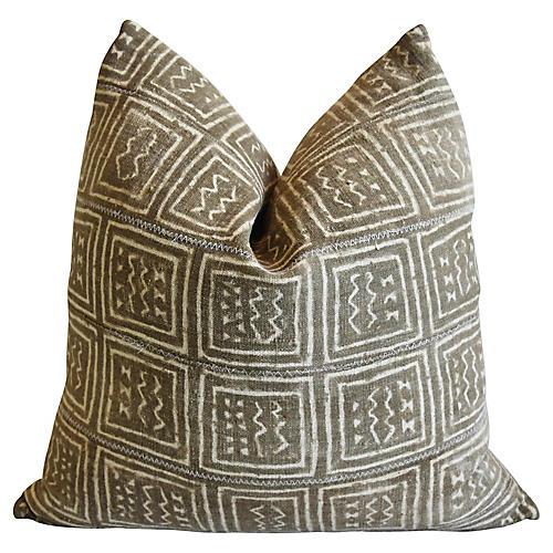 Malian Taupe & Cream Pillow