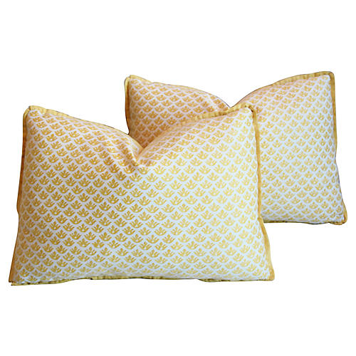 Italian Fortuny Canestrelli Pillows, S/2