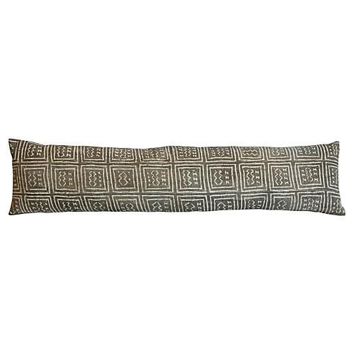 African Mud-Cloth Lumbar Bolster Pillow