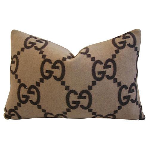 Gucci Cashmere & Velvet Pillow