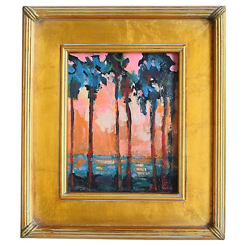 Ventura Palms & Sunset by Juan Guzman