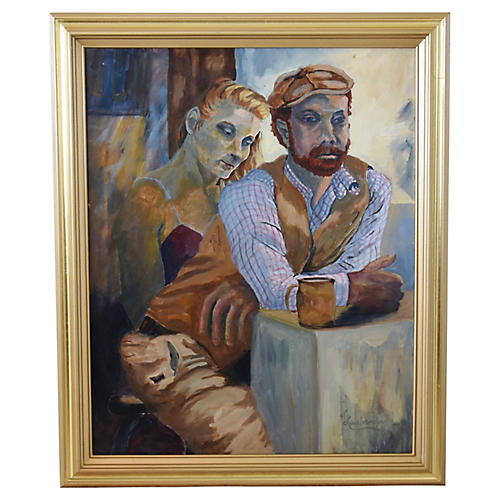 Portrait of Man & Woman by L. Laubemder