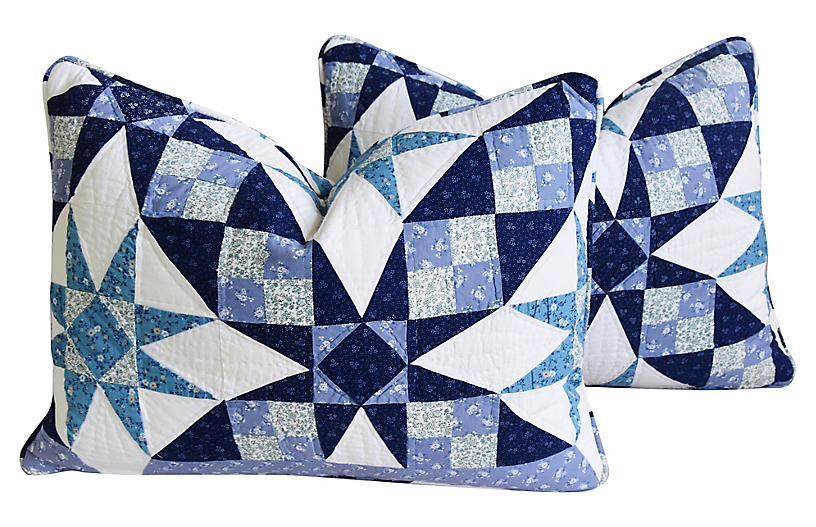 American Patchwork Pillows, Pair
