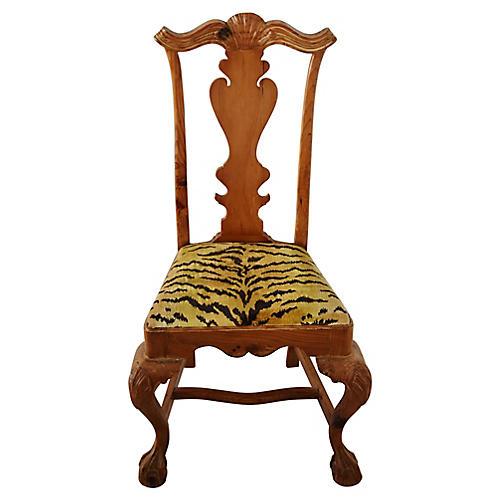 Scalamandré Tiger Velvet Side Chair