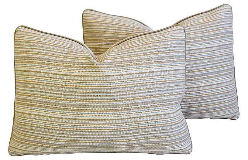 Hodsoll McKenzie Wool Stripe Pillows, Pr