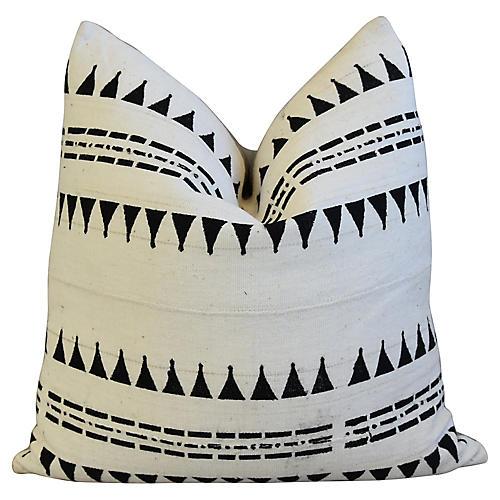 Malian Mud Cloth & Linen Tribal Pillow