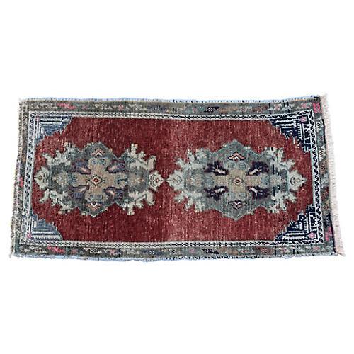 """Handmade Turkish Rug, 1'6"""" x 3'1"""""""
