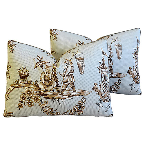 Bailey & Griffin Chinoiserie Pillows, Pr