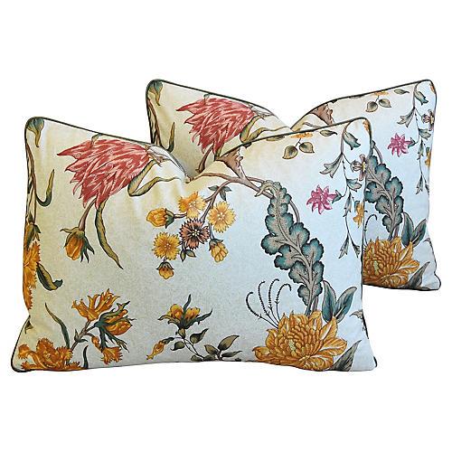 Schumacher Arbre Fleuri Pillows, Pair