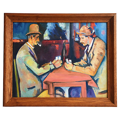 Cézanne's The Card Players by Hug Stack