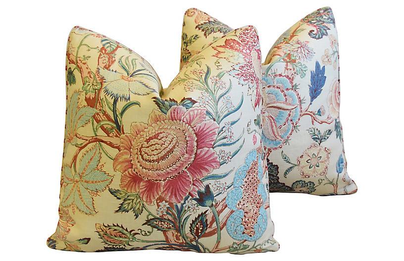 Travers Tree of Life Linen Pillows, Pair