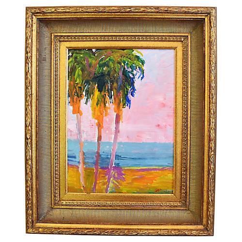 Juan Guzman Palms Seascape