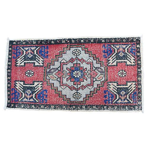 """Handmade Turkish Rug, 1'10"""" x 3'6"""""""