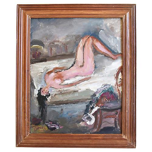 Midcentury Female Nude Study