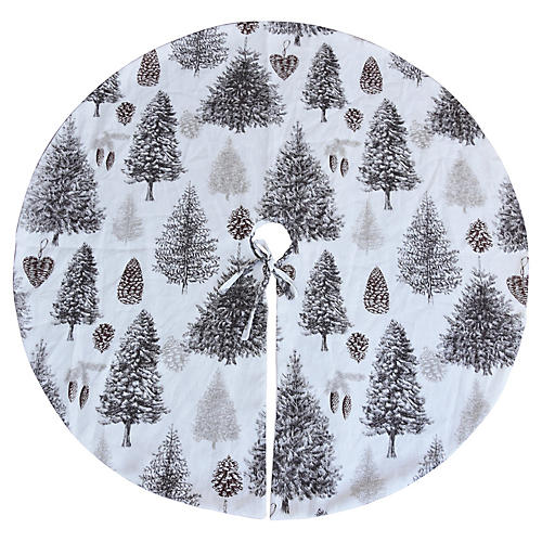 "53"" Woodland Tree Skirt"