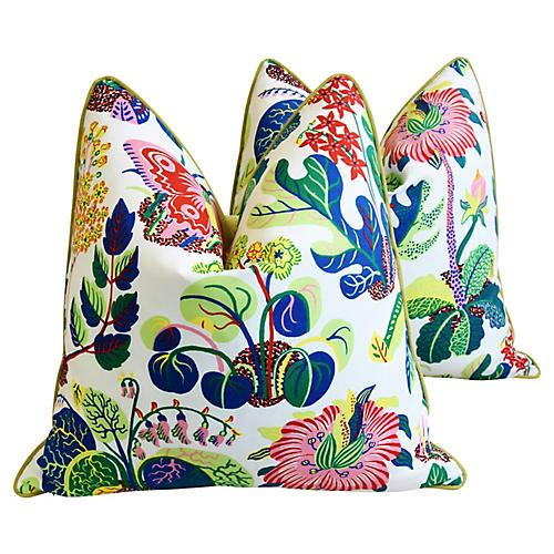 Schumacher Exotic Butterfly Pillows, Pr