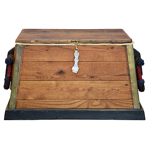 Seaman's Trunk Chest w/ Rope Handles