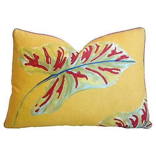 Talin Johnson Caladium Linen Pillow