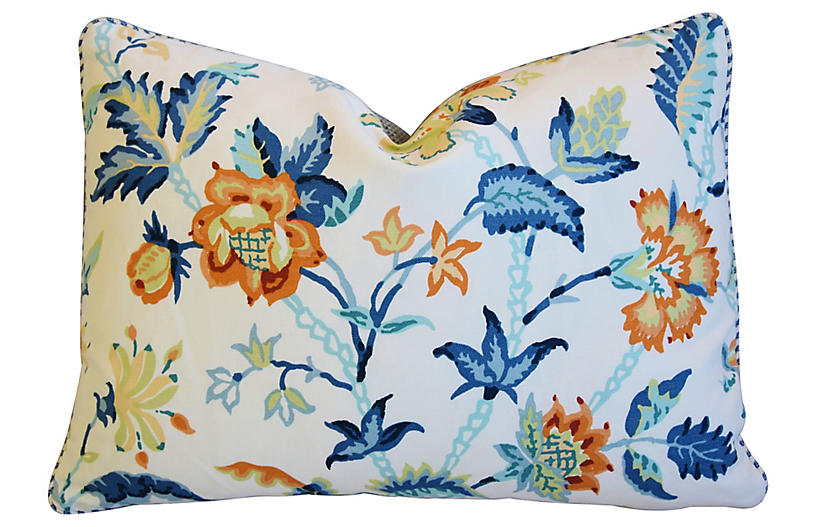 Schumacher Thistle Floral Pillow