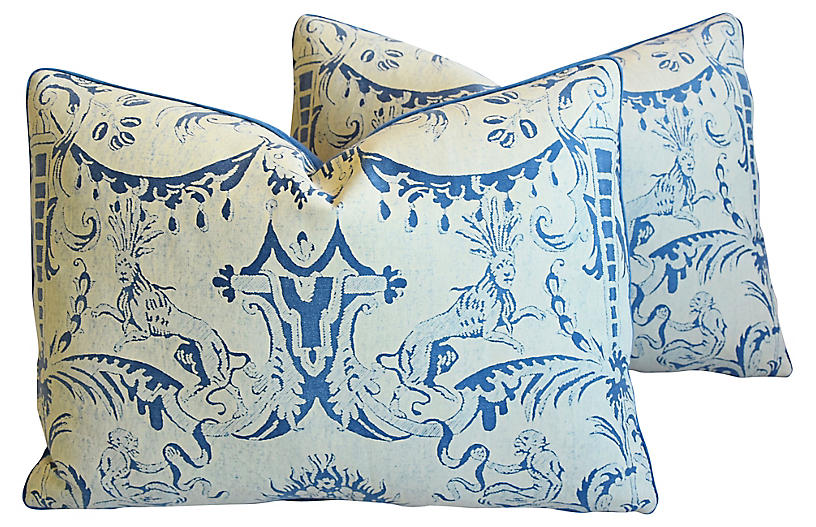 Mariano Fortuny Mazzarino Pillows, Pair