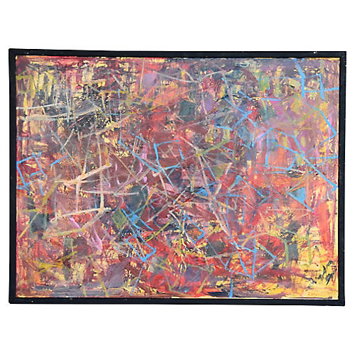 Juan Guzman Colorful Abstract Painting