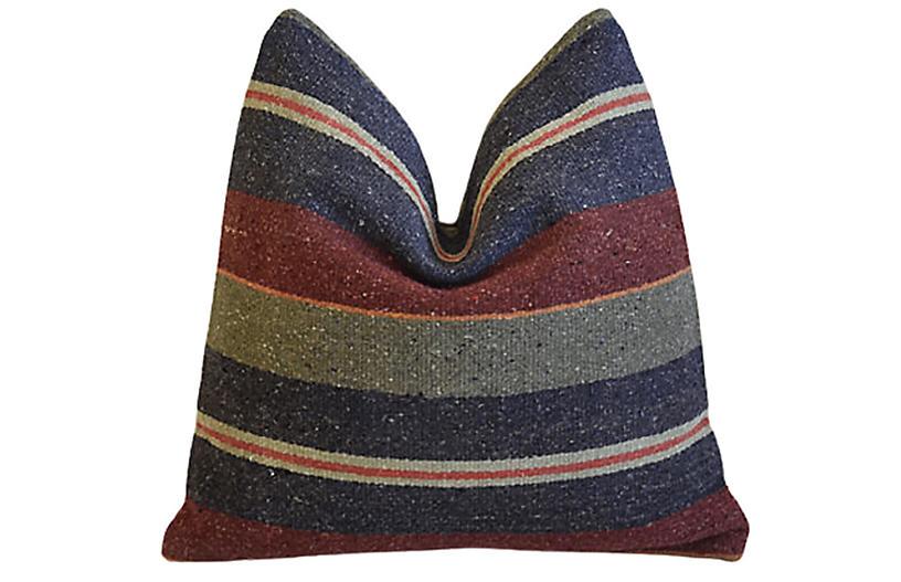 Boho-Chic Woven Turkish Carpet Pillow