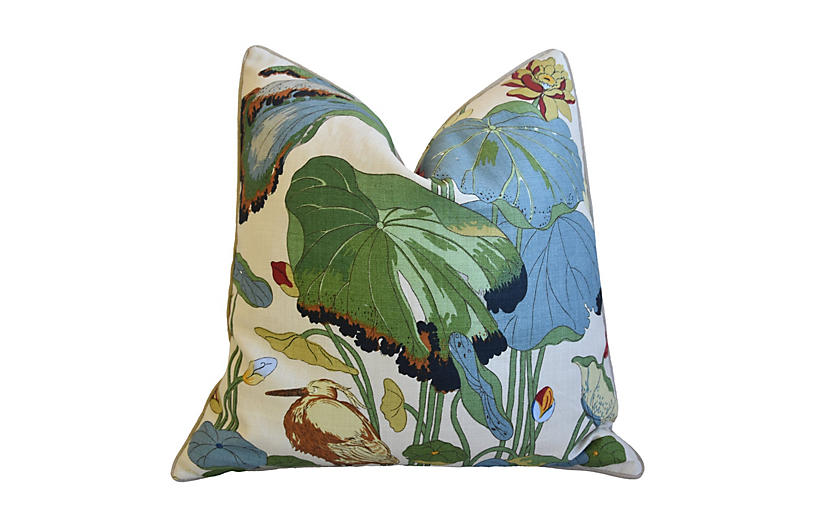 GP&J Baker Nympheus Floral Linen Pillow