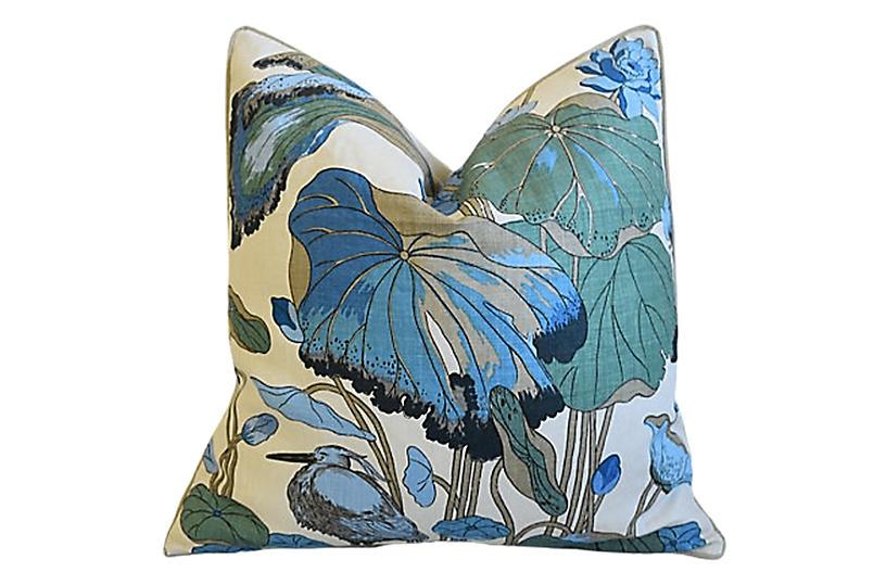 GP&J Baker Nympheus Floral Linen Pillow