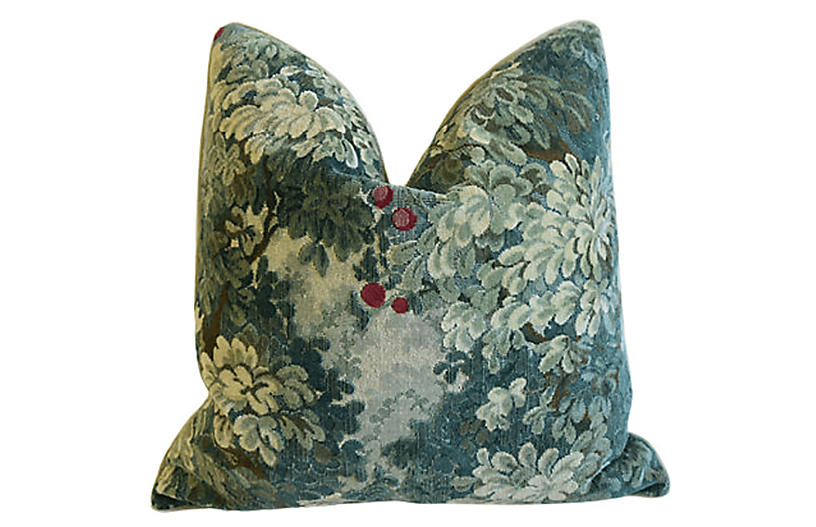 Scalamandré Cut Velvet Marly Pillow